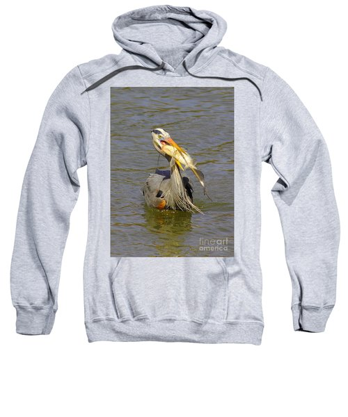 Bigger Fish To Fry Sweatshirt by Robert Frederick