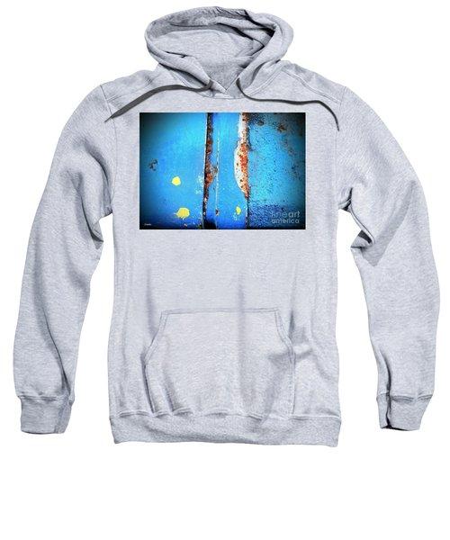 Blue Abstract Sweatshirt
