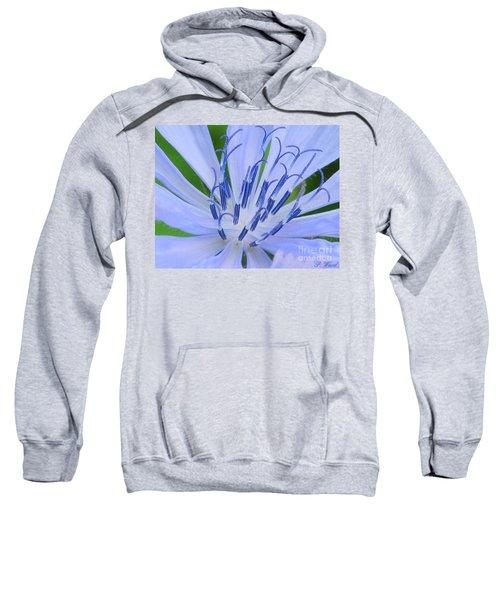 Blue Wild Flower Sweatshirt