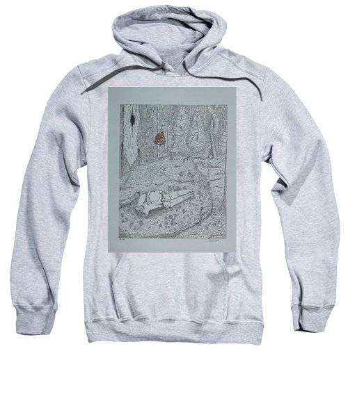 Canine Skull And Butterfly Sweatshirt