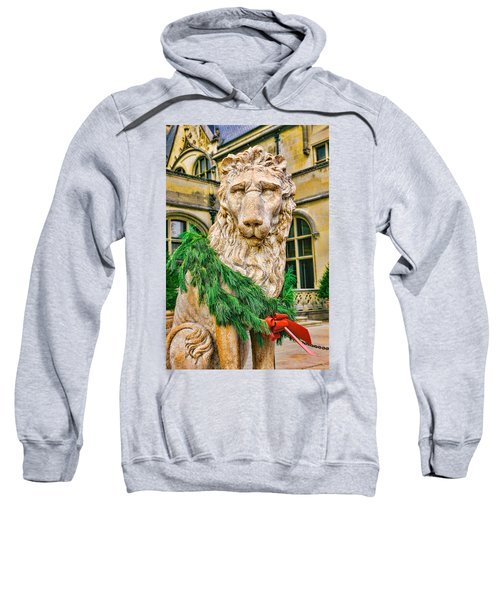 Christmas Lion At Biltmore Sweatshirt