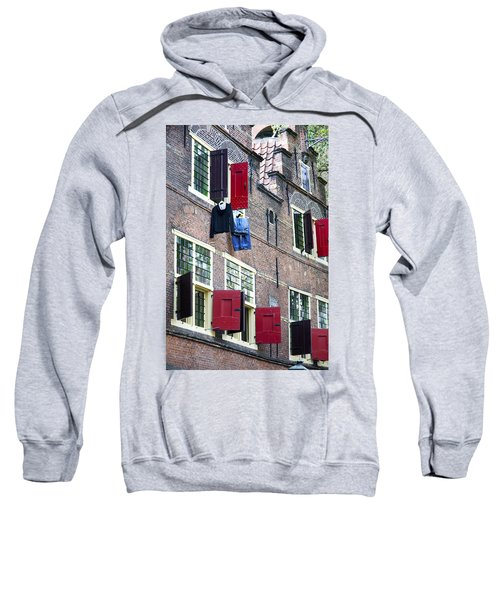 Clothes Hanging From A Window In Kattengat Sweatshirt