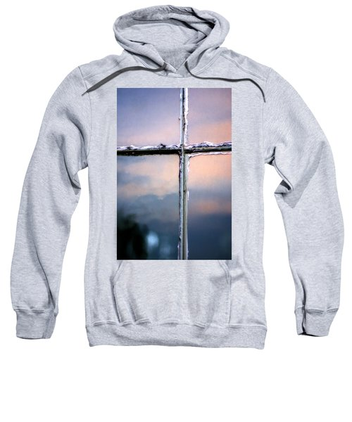Empty Cross On The Window Of An Old Church Sweatshirt