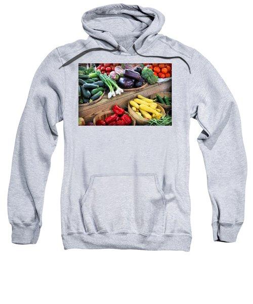 Farmers Market Summer Bounty Sweatshirt by Kristin Elmquist