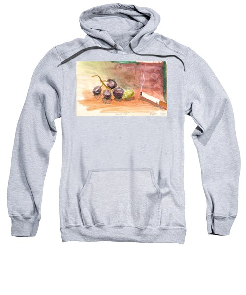 Sweatshirt featuring the painting Grapeality by Rod Ismay