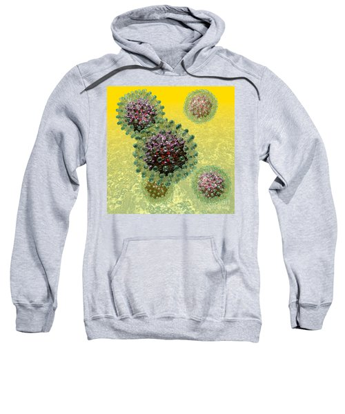 Hepatitis B Virus Particles Sweatshirt
