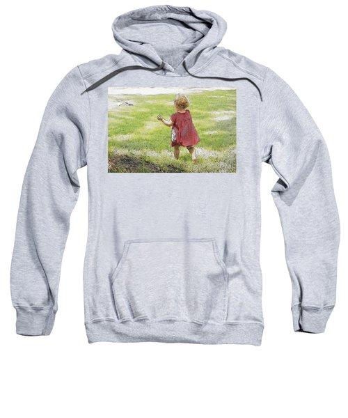 Into Her Future She Runs Sweatshirt