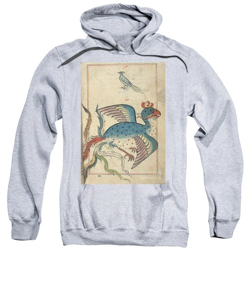 Islamic Mythical Bird, Simurgh, 17th Sweatshirt