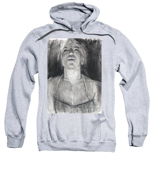 Sweatshirt featuring the drawing Lit by Gabrielle Wilson-Sealy
