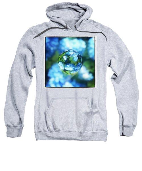 Marbled Blue Hydrangea Sweatshirt