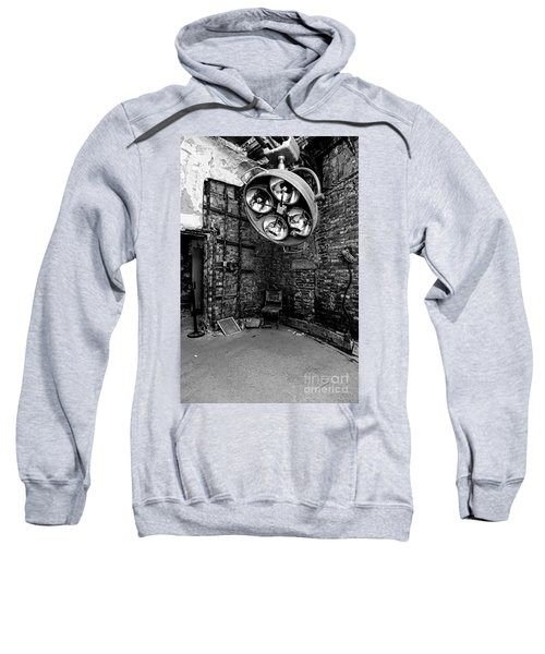 Operating Room - Eastern State Penitentiary - Black And White Sweatshirt
