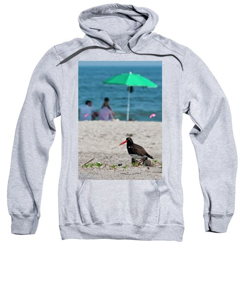 Parenting On A Beach Sweatshirt