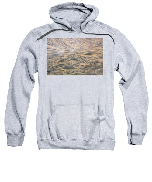 Sweatshirt featuring the photograph Sand Patterns by Nareeta Martin