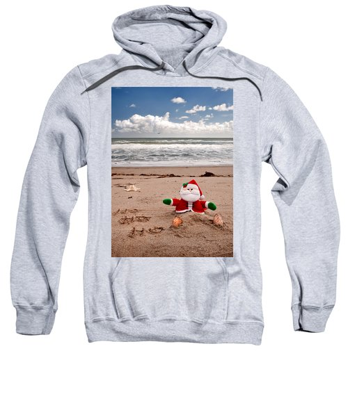 Santa At The Beach Sweatshirt