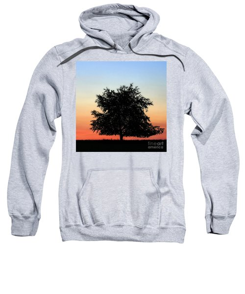 Make People Happy  Square Photograph Of Tree Silhouette Against A Colorful Summer Sky Sweatshirt