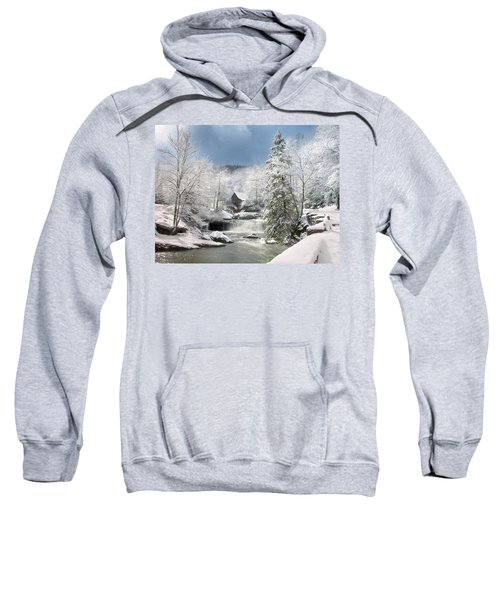 Snow At Babcock State Park Sweatshirt