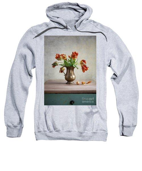 Still Life With Tulips Sweatshirt