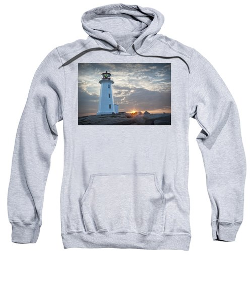 Sunrise At Peggys Cove Lighthouse In Nova Scotia Number 041 Sweatshirt