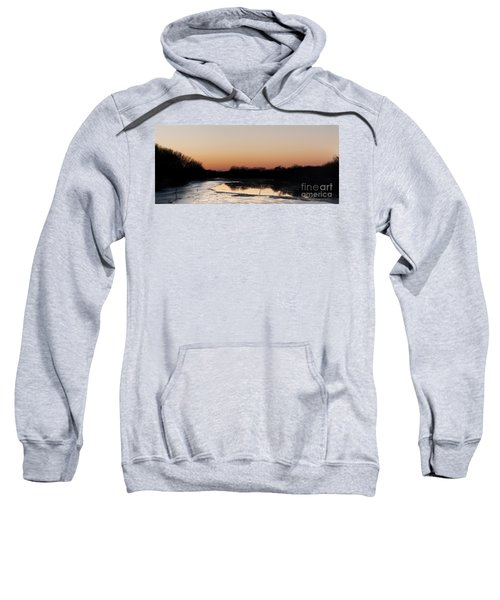 Sunset Over The Republican River Sweatshirt