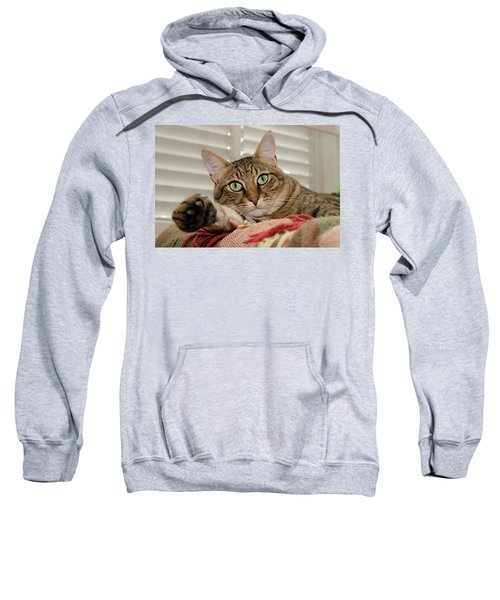 The Cat With Green Eyes Sweatshirt
