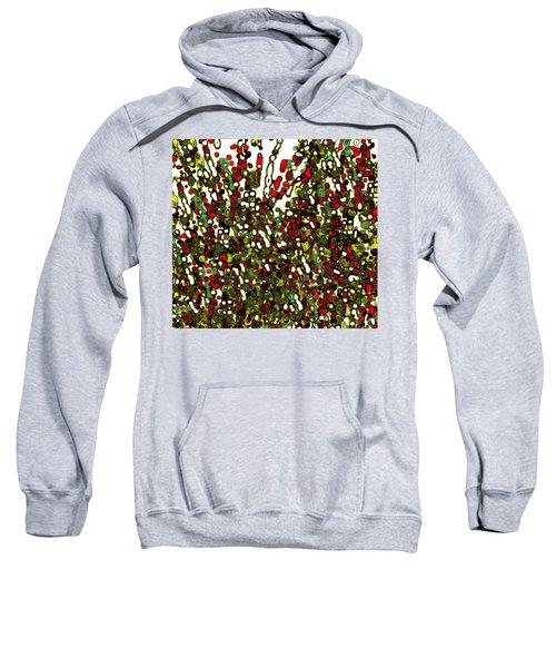 Sweatshirt featuring the digital art The Crowd by Mihaela Stancu