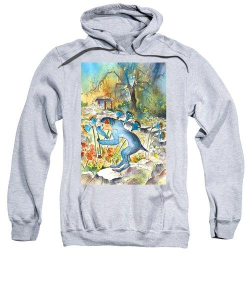 The Minotaur In Knossos Sweatshirt by Miki De Goodaboom