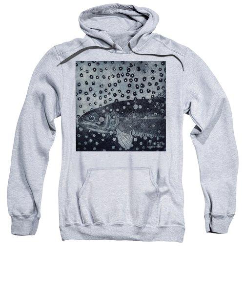 Unique Etching Artwork - Brown Trout  - Trout Waters - Trout Brook - Engraving Sweatshirt