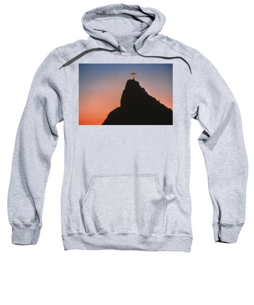 View Of Christ The Redeemer  Sweatshirt