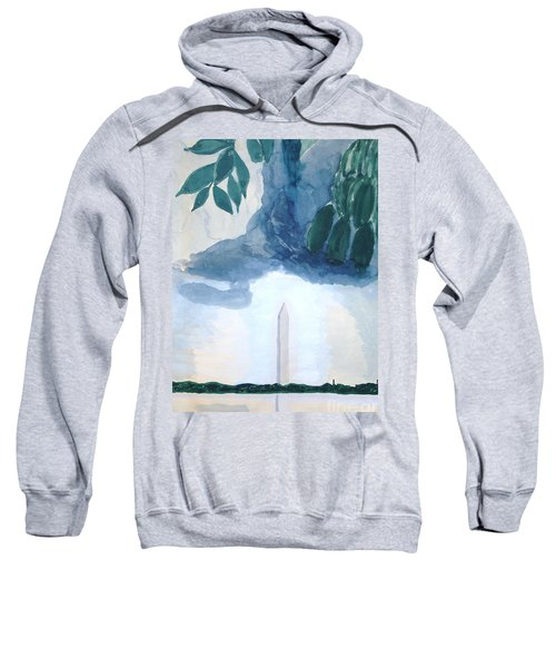 Sweatshirt featuring the painting Washington Monument by Rod Ismay