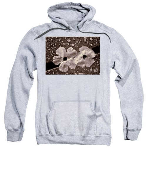 Wet Flowers And Wet Table Sweatshirt