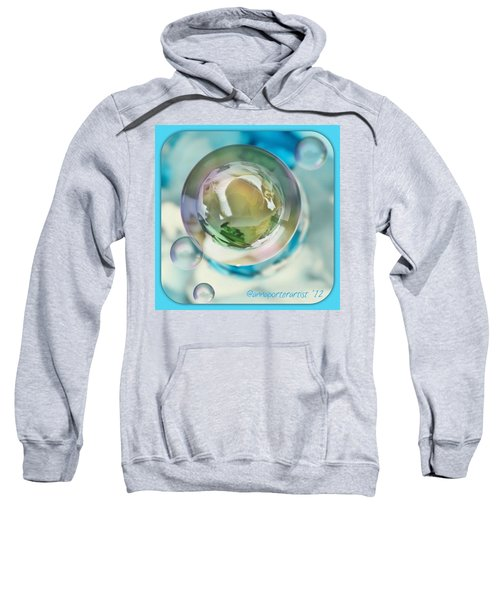 White Gladiola Marble In A Bubble Sweatshirt