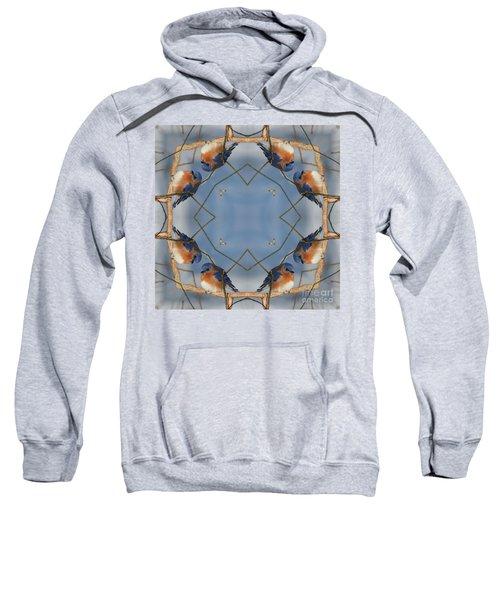 Winter Bluebird Kaleidoscope Sweatshirt