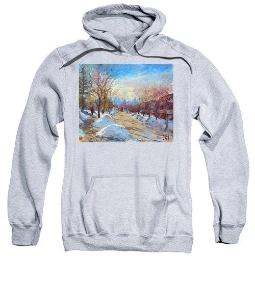 Winter In Silverado Dr Mississauga On Sweatshirt