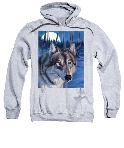 Wolf In Moonlight Sweatshirt
