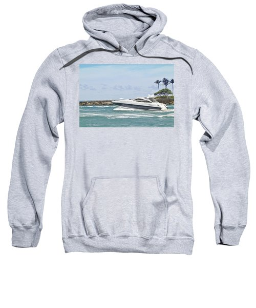 Yacht In Inlet Sweatshirt