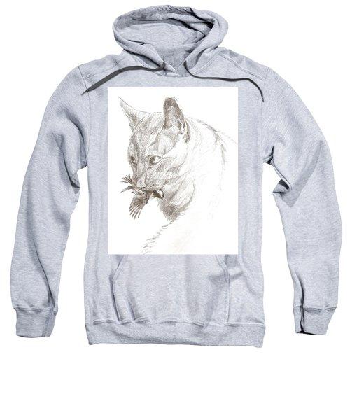 Cat And Chickadee Sweatshirt