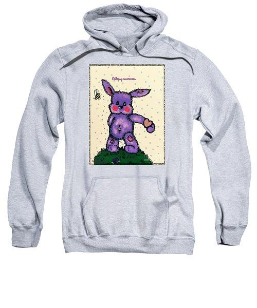 Epilepsy Awareness Bunny Sweatshirt