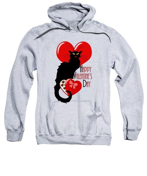Happy Valentine's Day Le Chat Noir Sweatshirt