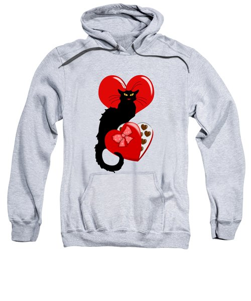 Le Chat Noir With Chocolate Candy Gift  Sweatshirt