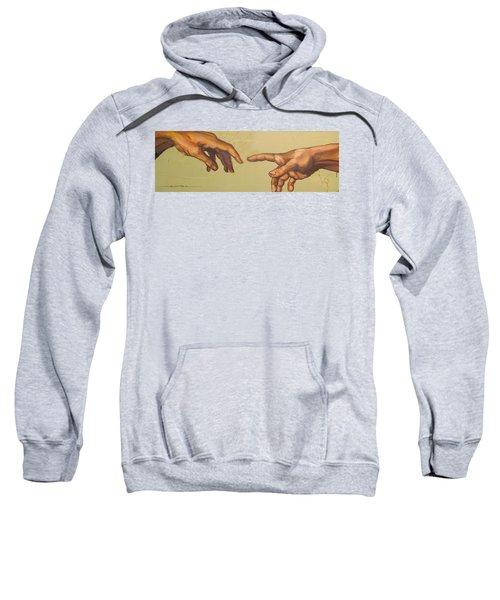 Michelangelos Creation Of Adam 1510 Sweatshirt