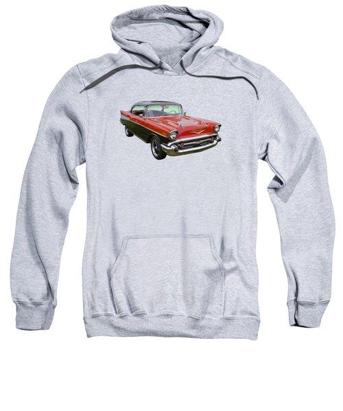 Red And Black 1957 Chevy Belair Sweatshirt