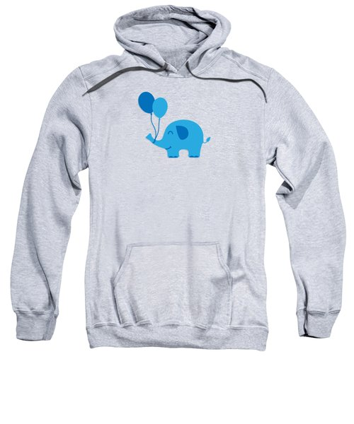Sweet Funny Baby Elephant With Balloons Sweatshirt by Philipp Rietz