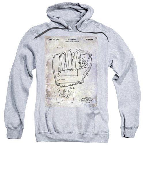 1943 Baseball Glove Patent Sweatshirt by Jon Neidert