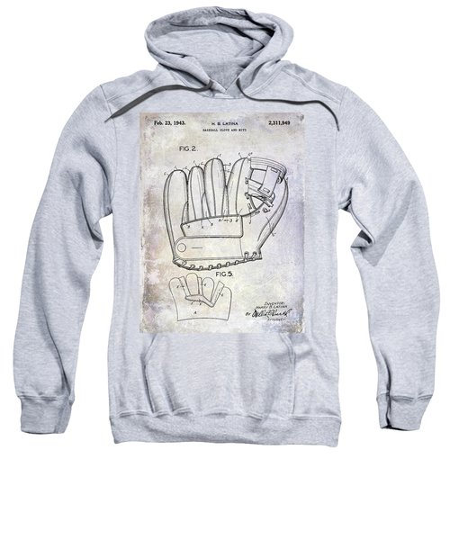 1943 Baseball Glove Patent Sweatshirt