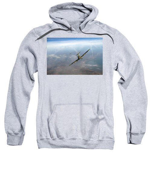 Sweatshirt featuring the photograph Battle Of Britain Spitfires Over Kent by Gary Eason