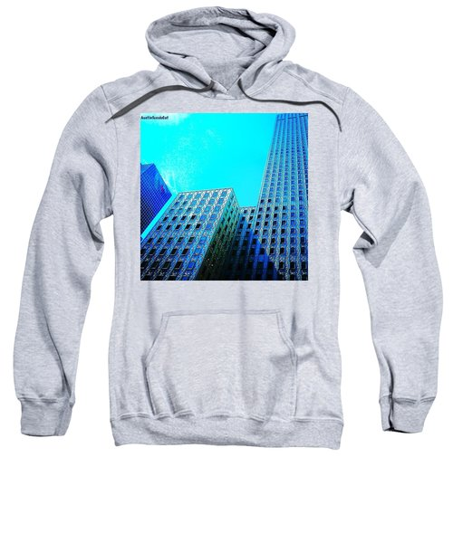 #blue #buildings And #bluesky On A Sweatshirt