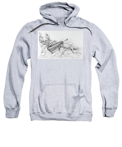 Brown Trout Pencil Study Sweatshirt