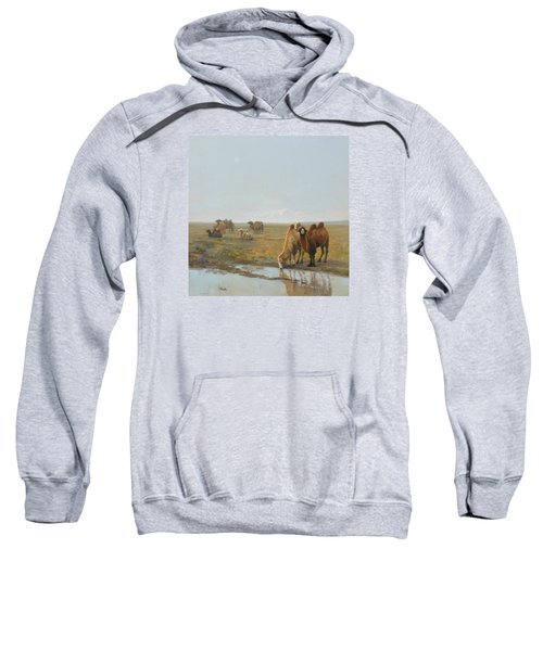 Camels Along The River Sweatshirt