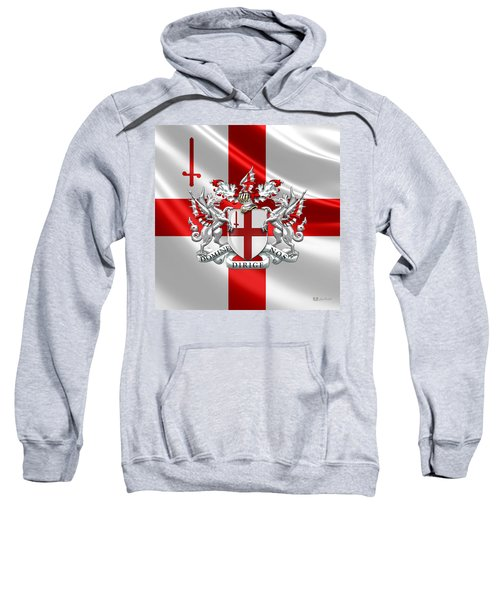 City Of London - Coat Of Arms Over Flag  Sweatshirt