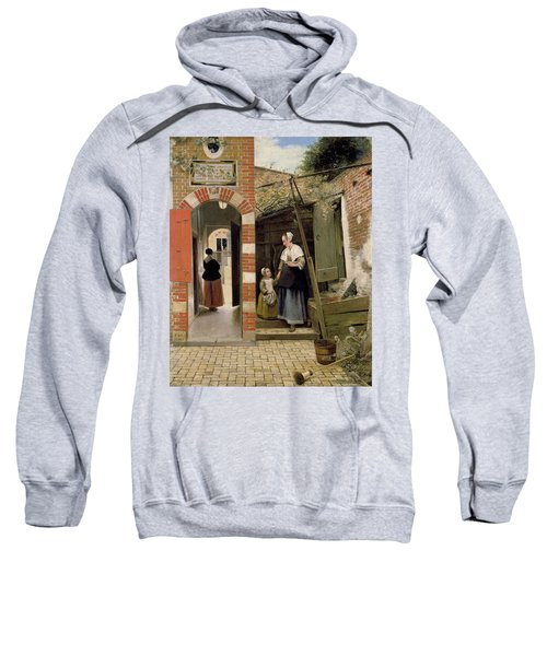 Courtyard Of A House In Delft Sweatshirt